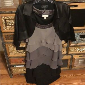 Women's Dress Barn dress and cover up jacket